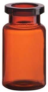 10ml Injektionsflasche, 24 x 45mm, Halsdurchmesser 20, 1. Klasse-Glas, Braunglas, nach DIN/ISO (Röhrenglas); (VE = 154 Stück)