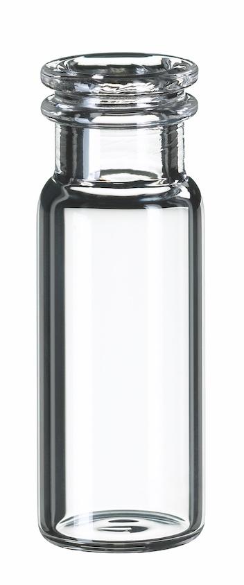 1,5ml Schnappringflasche, 32x11,6mm, Klarglas, 1. hydrol. Klasse, weite Öffnung