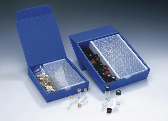 2in1 Kit: 1,5ml Rollrandflasche, 32 x 11,6mm, Braunglas, 1. hydrolytische Klasse,  weite Öffnung, Schriftfeld und Füllmarkierungen; 11mm Verschluss: A