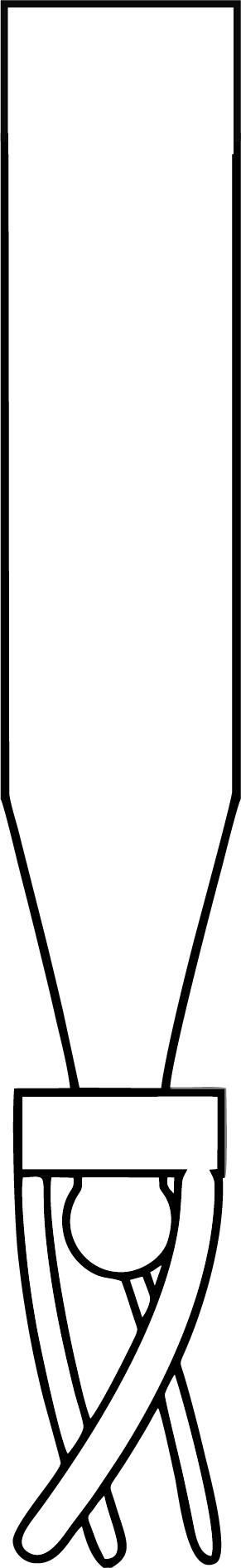 0,8ml Mikroeinsatz, 38x8 mm, Klarglas, mit Polymerfuß