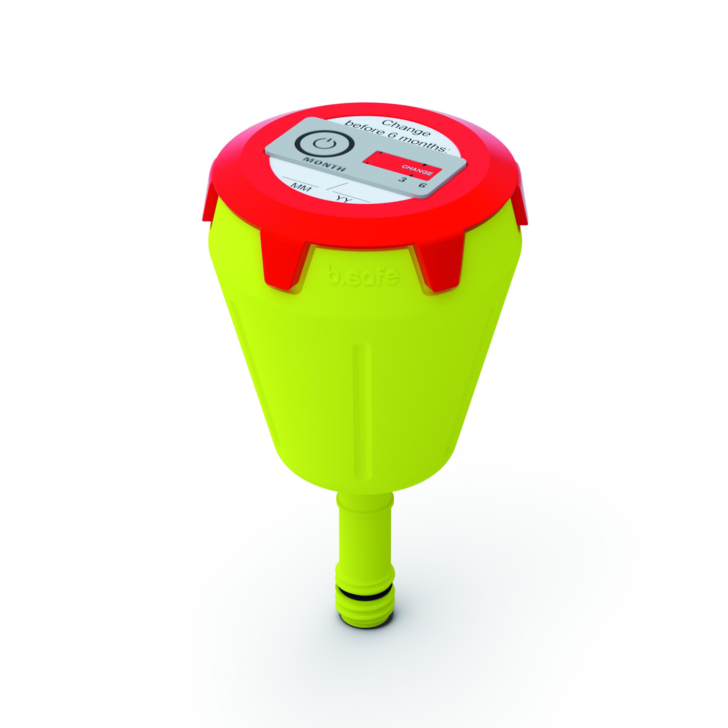 Abluftfilter  Filtergehäuse aus PP mit Anschluss (Gewinde GL14) passend für b.safe Waste Caps. Deckel mit Belü