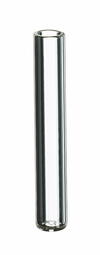 0,2ml Mikroeinsatz, 31 x 5mm, Klargals, 1. hydrol. Klasse, flacher Boden (Füllv. 0,3ml)