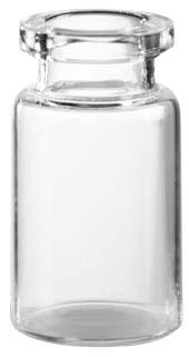 10ml Injektionsflasche, 24 x 45mm, Halsdurchmesser 20, 1. Klasse-Glas, Klarglas, nach DIN/ISO (Röhrenglas); (VE = 154 Stück)