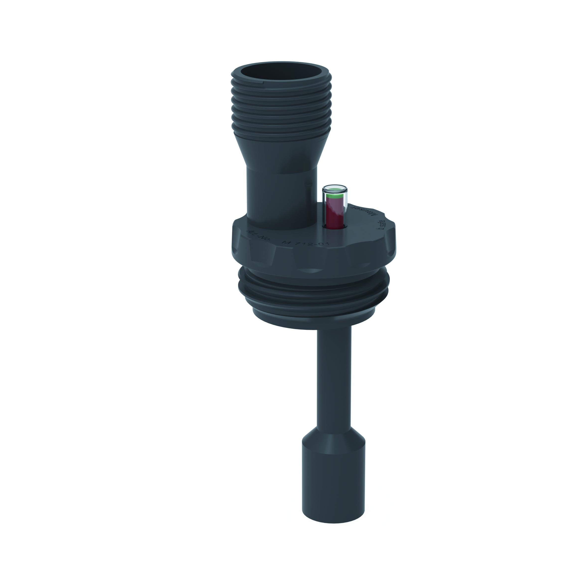 Füllstandsanzeige mit Trichteranschluss EX  Einsatz mit Einschraubgewinde für Fässer oder Schraubkappe für Kan