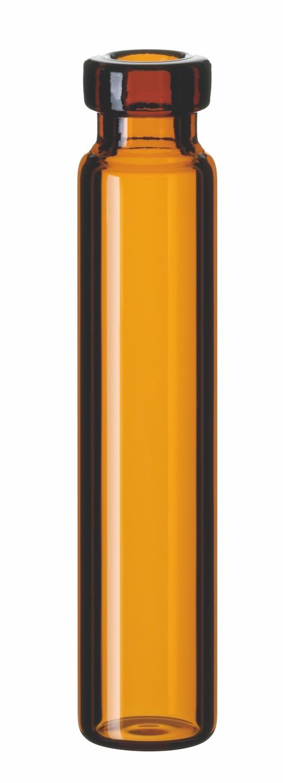 1,2ml Rollrandflasche, 40 x 8,2mm, Braunglas, 1. hydrolytische Klasse