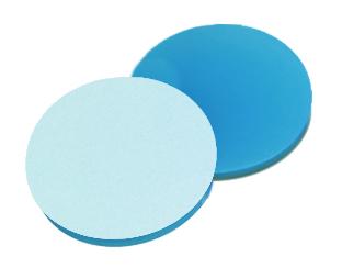 19,5mm Septum, Silicon blau transparent/PTFE weiß, 45° shore A, 1,3mm