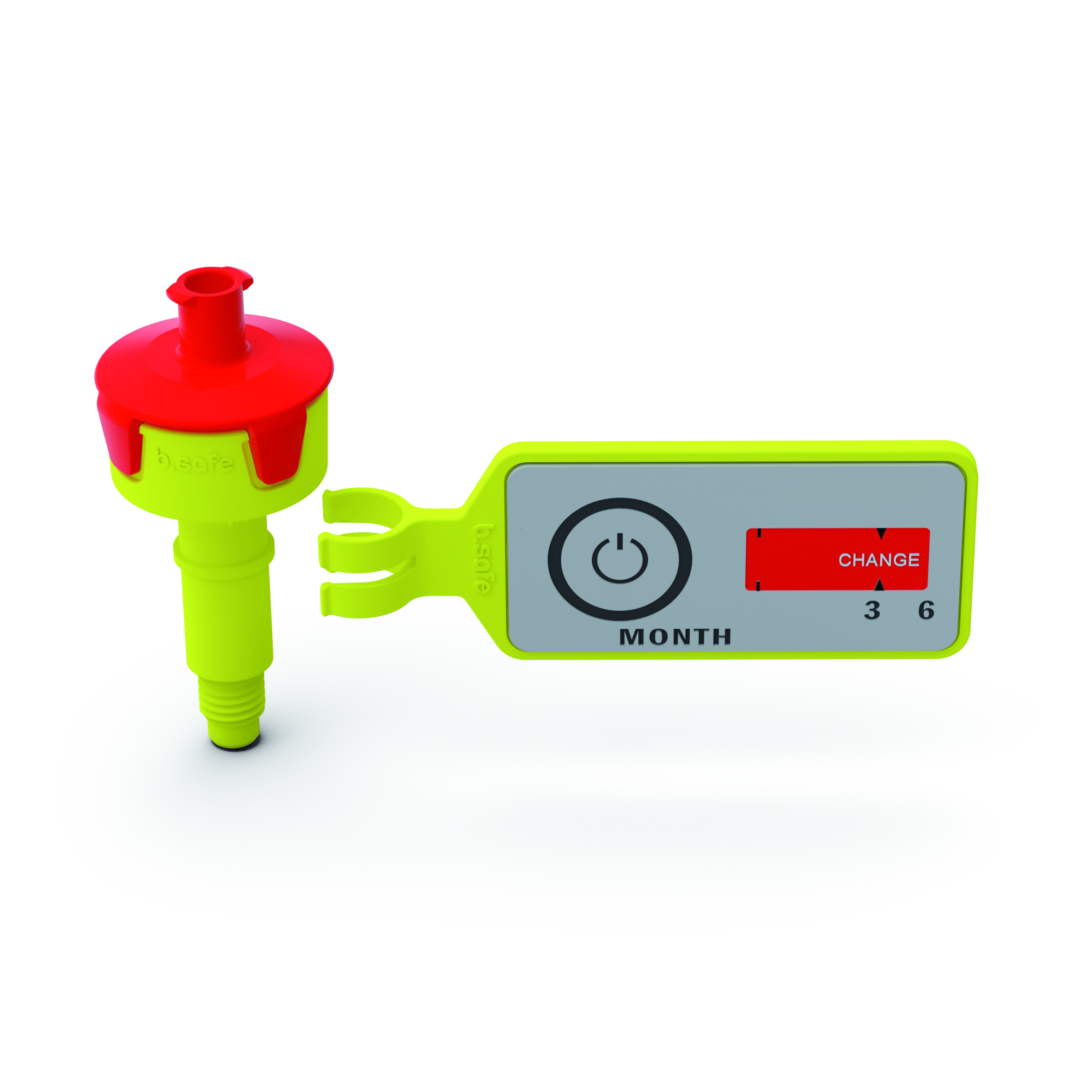 """Belüftungsventil  Ventilgehäuse aus PP mit Anschluss (Gewinde UNF 1/4"""" 28G) passend für b.safe Caps. Deckel mi"""