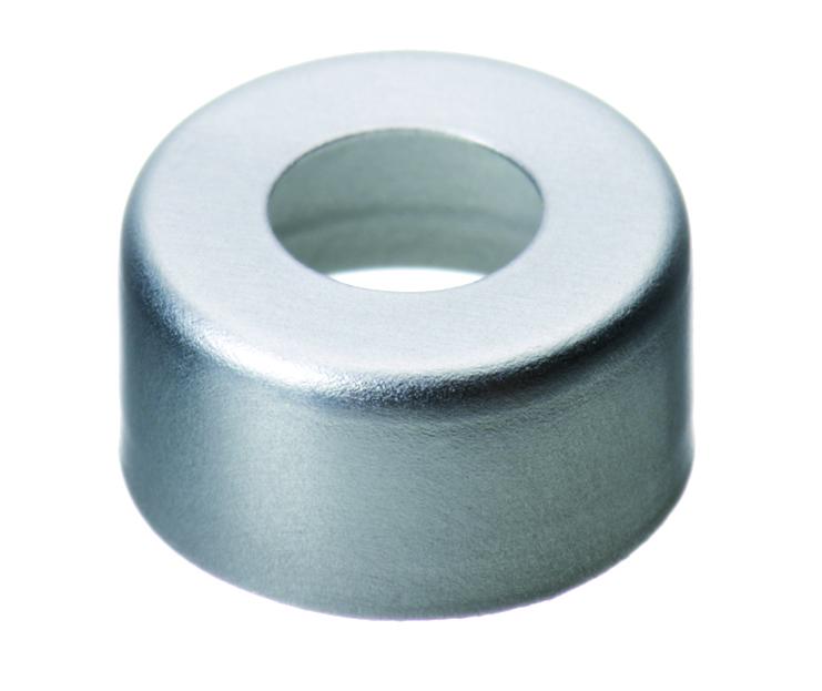 20mm Aluminium Bördelkappe, farblos lackiert, 10mm Loch