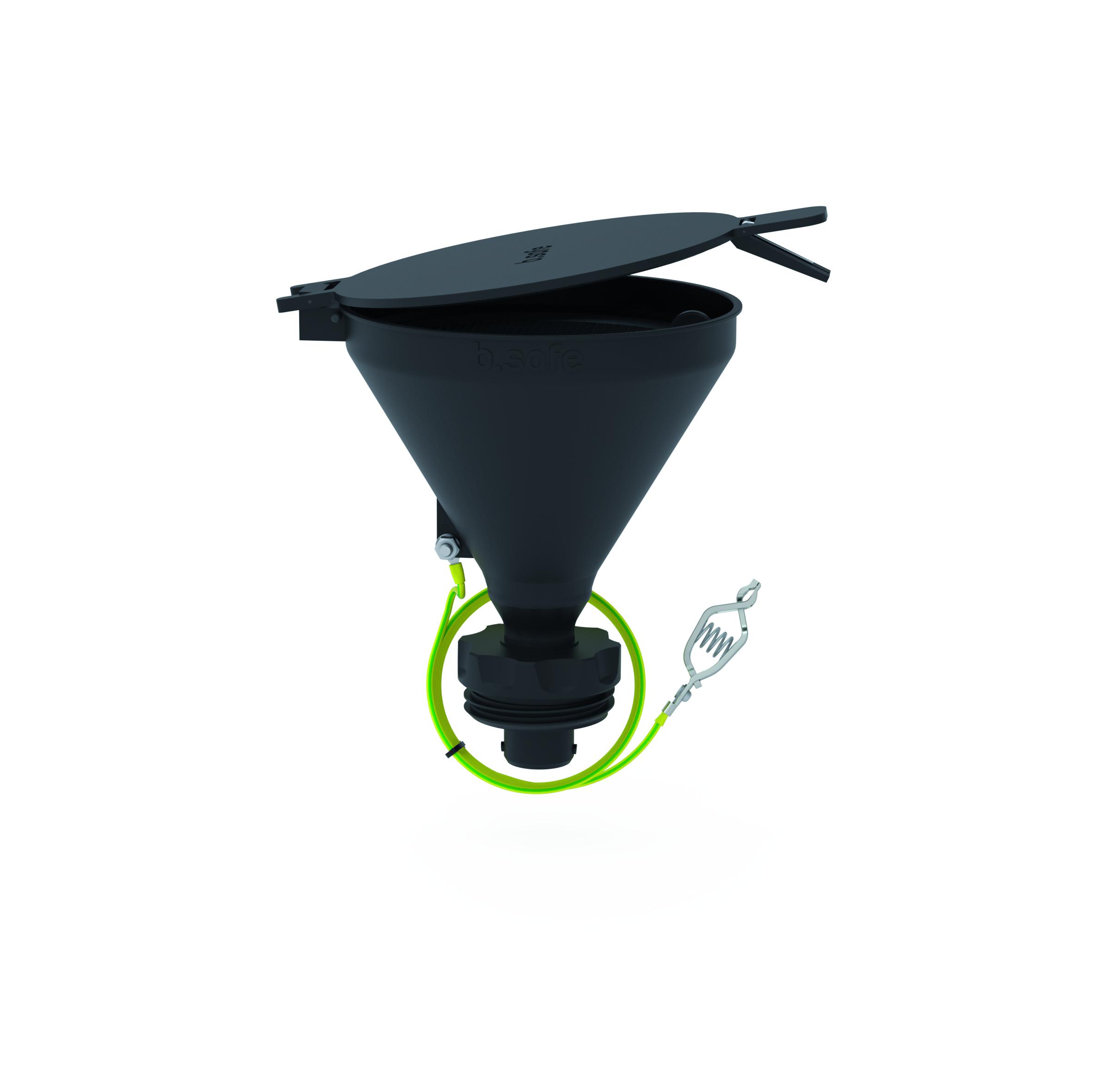 Trichter 180  Trichter aus PE bzw. ableitfähigem PE-EX zur Entsorgung von flüssigen Abfällen. Mit der frei dre
