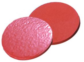 19,5mm Septum, Naturkautschuk rot-orange/TEF transparent, 60° shore A, 1,0mm