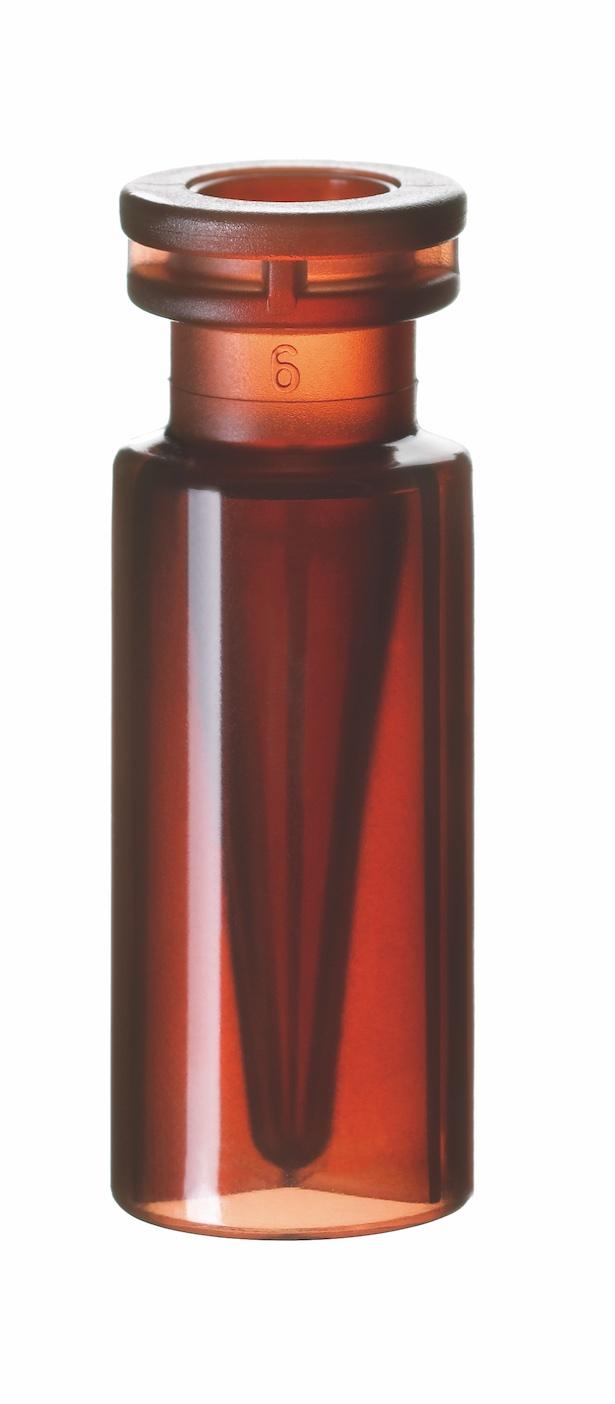 0,3ml PP Schnappring-Mikroflasche, 32 x 11,6mm, braun
